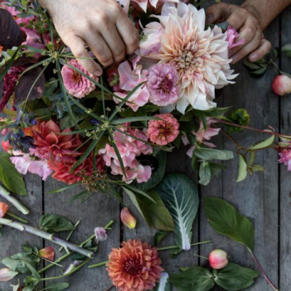 Farm to Mason Jar Flower Arrangement
